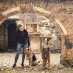 Romantyczny spacer z psami